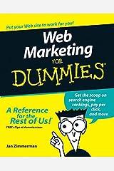 Web Marketing For Dummies Paperback