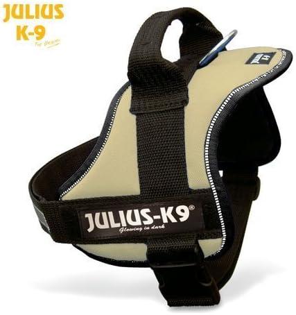 julius-k9 Power – Arnés para tamaño 0 Beige/Tierra – con placa ...
