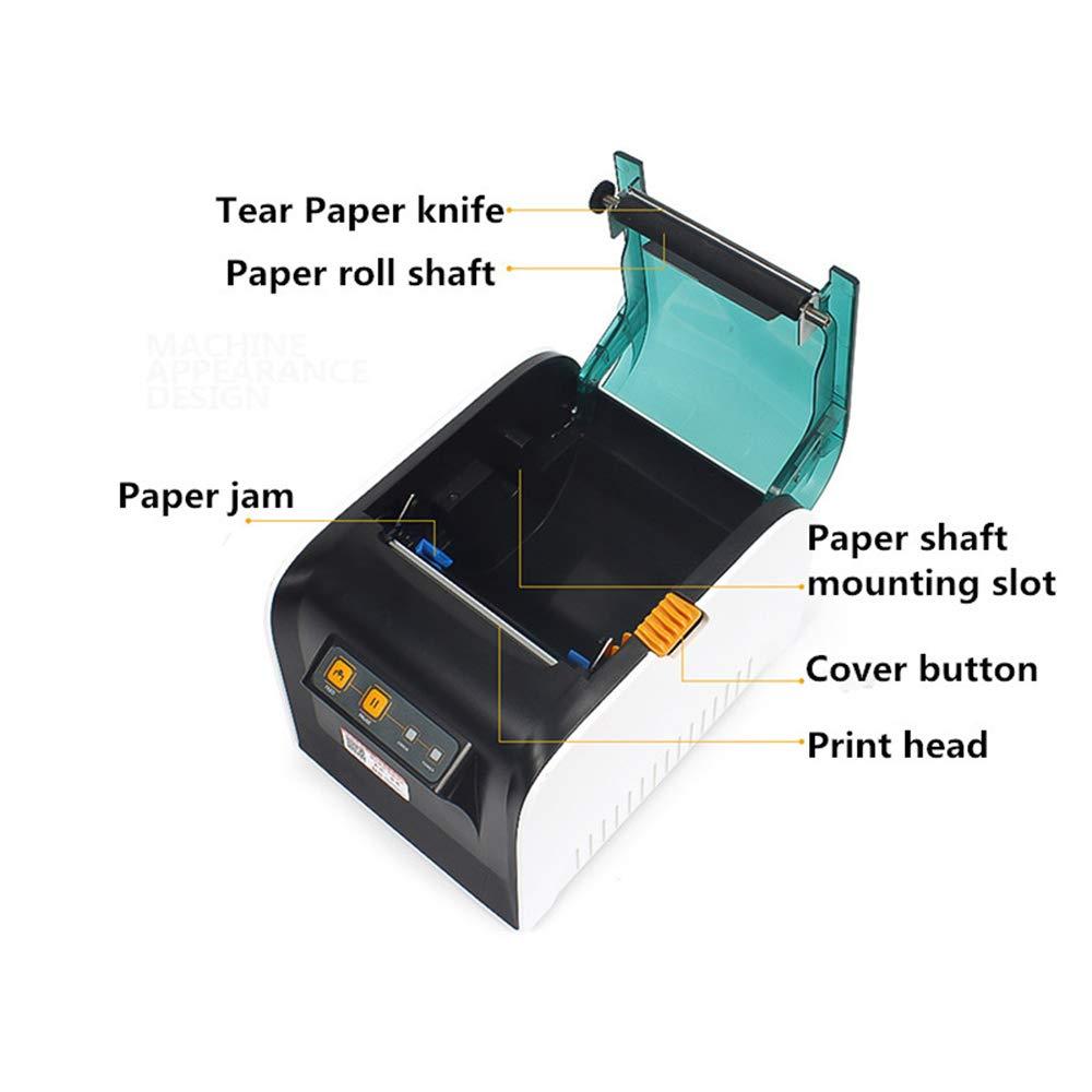 DJK 80mm código de Barras Impresora térmica, USB Bluetooth Ropa ...