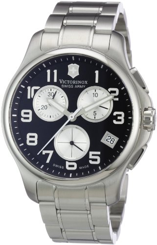 Victorinox Swiss Army Men's 241455 Officers Chrono Black Dial Watch