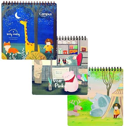 Bloc de dibujo Campus College 25,5 cm x 25,5 cm. 36 hojas de 160 gr. Pack de 3 modelos surtidos.: Amazon.es: Oficina y papelería