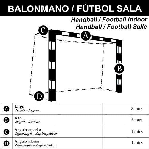PAR DE Redes Balonmano - FÚTBOL Sala Serie Entrenamiento. 3 mm (2 ...