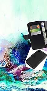 All Phone Most Case / Oferta Especial Cáscara Funda de cuero Monedero Cubierta de proteccion Caso / Wallet Case for Sony Xperia Z3 D6603 // Geometry Psychedelic Mountain