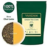 Green Tea Chai with Masala. A Premium Loose Leaf (50 Cups),Perfect blended Green Tea Packed With Rare Indian Spices- Cardamom, Cinnamon, Clove & Black Peppercorns and Powerful Antioxidants,100gm