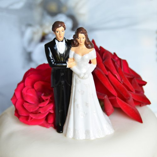 Bride Groom Couple Figurine Topper product image