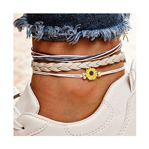 CanB Rope Anklet Sunflower...
