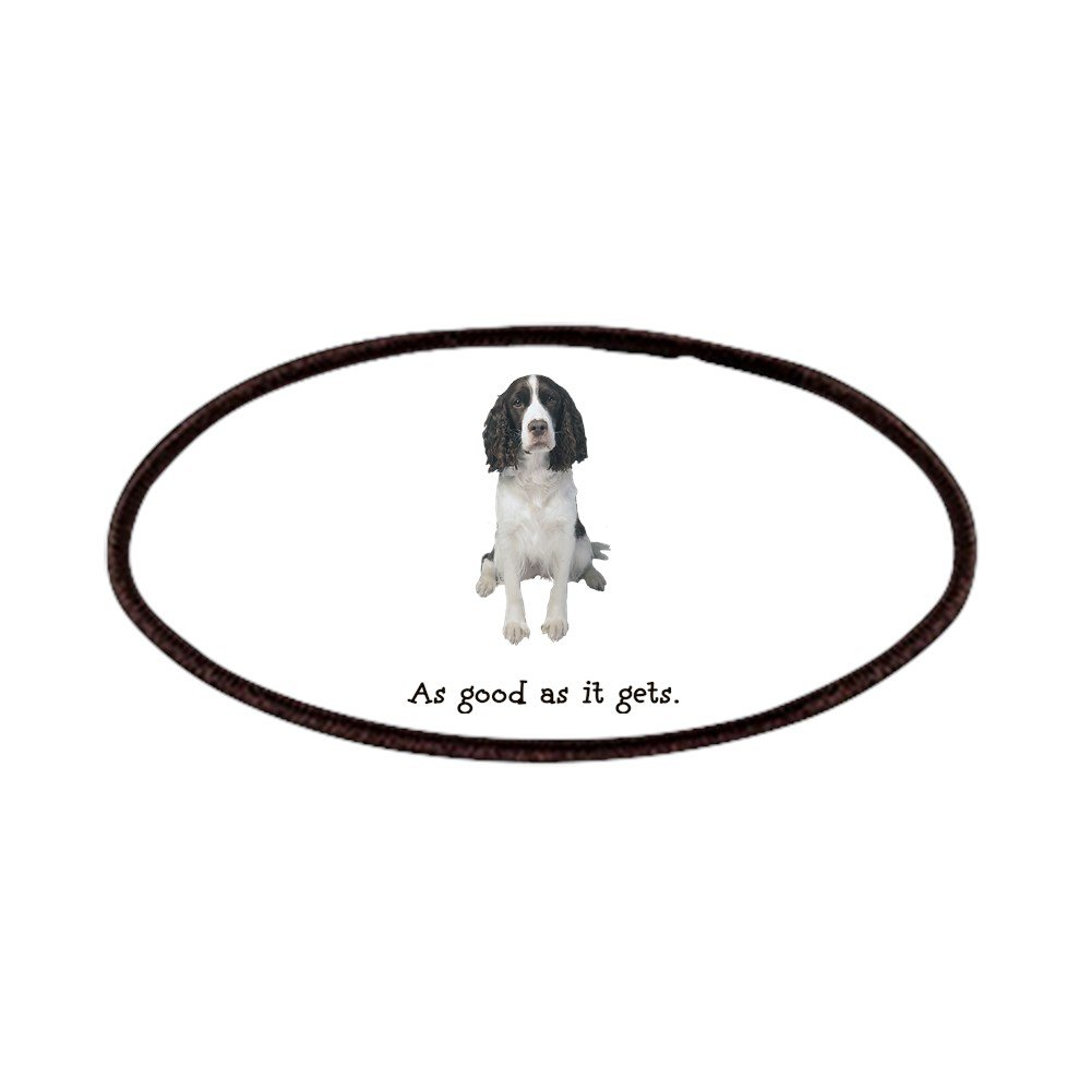 CafePress - Good Springer Spaniel Patches - Patch, 4x2in Printed Novelty Applique Patch