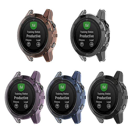 AWINNER Colorful Case Compatible for Garmin Fenix 5,Shock-Proof and Shatter-Resistant Protective TPU - http://medicalbooks.filipinodoctors.org