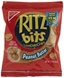 Ritz Bits Peanut Butter Sandwiches, 1.5-Ounce Single-Serve Packages (Pack of 60)