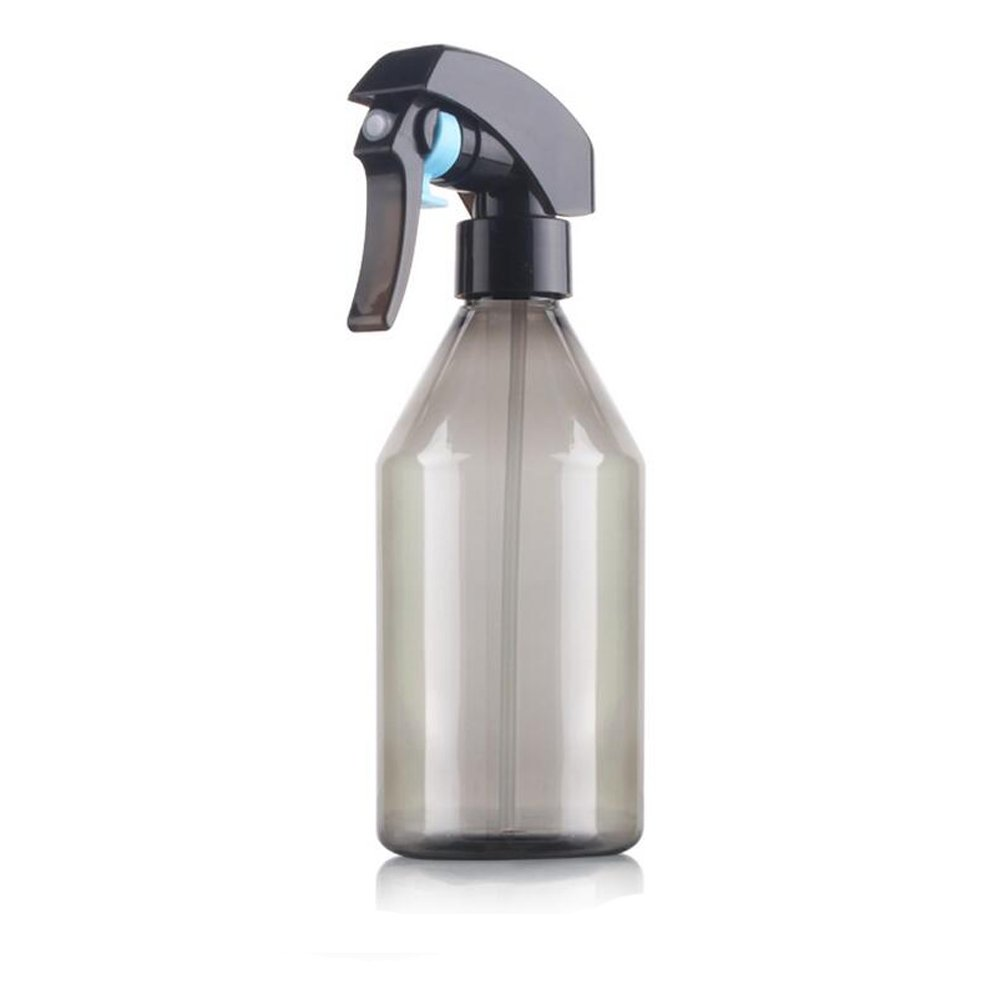 1PCS 300ml Refillable Hairdressing Mist Spray Bottles -Portable PET Plastic Cosmetic Makeup Bottles Gardening Plants Sprayer Spary Holder Tools Window Watering Pot Can Sprinklers (Grey)
