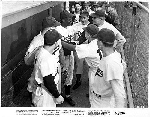 Photo: The Jackie Robinson Story,fellow Brooklyn Dodgers,Dugout,Baseball,Sports,c1950