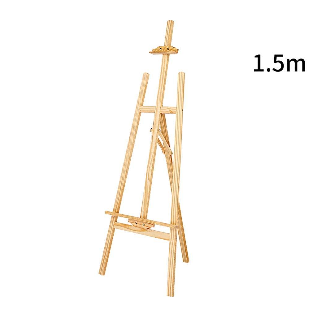 イーゼルアート 調節可能な高さの純木の折るオイルのイーゼル、ブラケットのタイプ多機能木製色のイーゼル (サイズ さいず : 1.5m) 1.5m  B07RFCR581