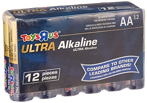 Toysrus Ultra Alkaline Aa Size Battery 12 Pack
