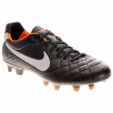 66001c797 Amazon.com: Nike Tiempo Legend IV FG Cleat (7.5 D(M) US,  Black/White/Orange): Sports & Outdoors