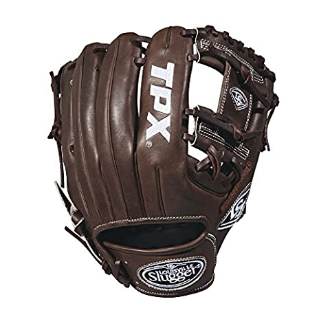 Louisville Slugger 2018 Tpx Infield Baseball Glove - Right Hand Throw Dark Brown/White, 11.5