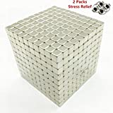 RLRY Magnetic Cube Magnets Blocks Magnetic Sculpture Holders Square Cube Children's Puzzle Magnets Spherical DIY Educational Toys for Kids 04