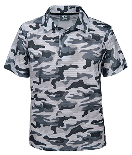 (Akwa Men's Made in USA Camouflage Camo Polo Shirt with Moisture Wicking Polyester)
