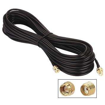 TOOHUI® Cable de Extensión de Antena SMA, 10m SMA Macho a ...