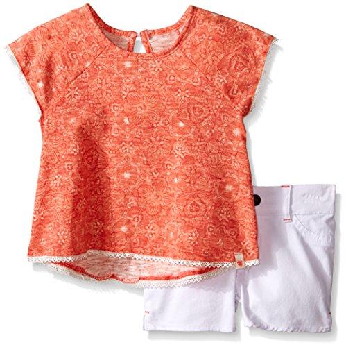 Belt Clothing Brands (Lucky Brand Little Girls' Toddler Marrion Boho Set, Sugar Coral,)