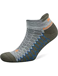 b65802e298f Silver Antimicrobial No-Show Compression-Fit Running Socks for Men and  Women (1