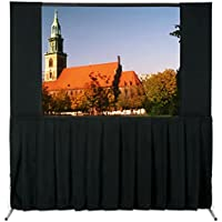 Da-Lite School Office Projector Accessories Ultra Velour Fast-Fold Deluxe Skirt Drapery 77 x 120