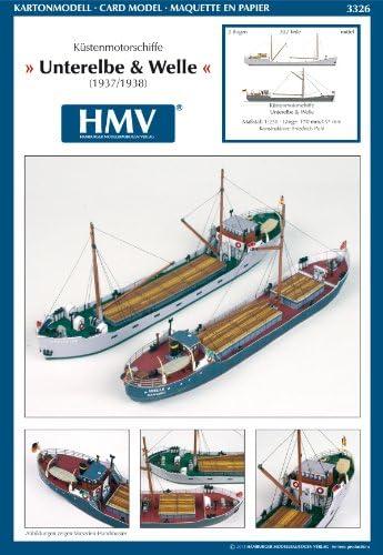 <カードモデル>1:250 沿岸貿易船 Unterelbe & Welle