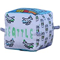 Seattle City Block   Organic Toy   Soft Cotton   Best Toy of the Year   Handmade in Brooklyn   Jingle Column   Rattle   Baby Blocks