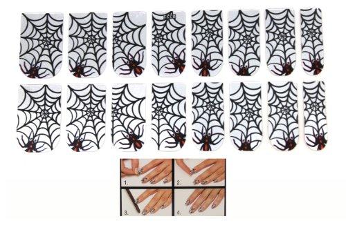 Spider Web Nails (Halloween Spider Web Nail Decals by Ganz)