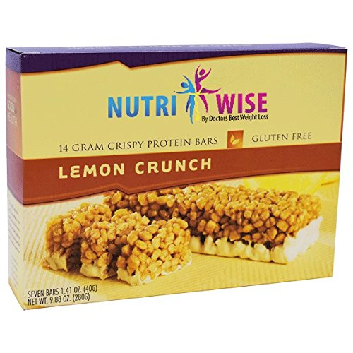 NutriWise - High Protein Diet Bar | Lemon Crunch | Low Calorie, Low Fat, Cholesterol free (7 Bars)