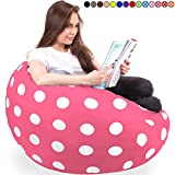 King-Sized Bean Bag Chair in Candy Pink- New King Size Big Soft Comfort Cover with Memory Foam Filler – Cozy Lounger & Bed – Kids & Teens Love This Huge Sack – Indoor Furniture by Panda Sleep