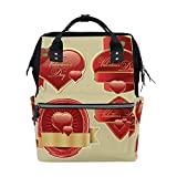 Backpack School Bag Wedding Heart Love Rose Canvas Travel Doctor Style Daypack