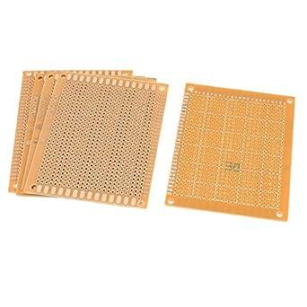 PCB placa de circuito eléctrico de un lado universal de bricolaje DealMux 5 piezas de 7cmx9cm: Amazon.es: Industria, empresas y ciencia
