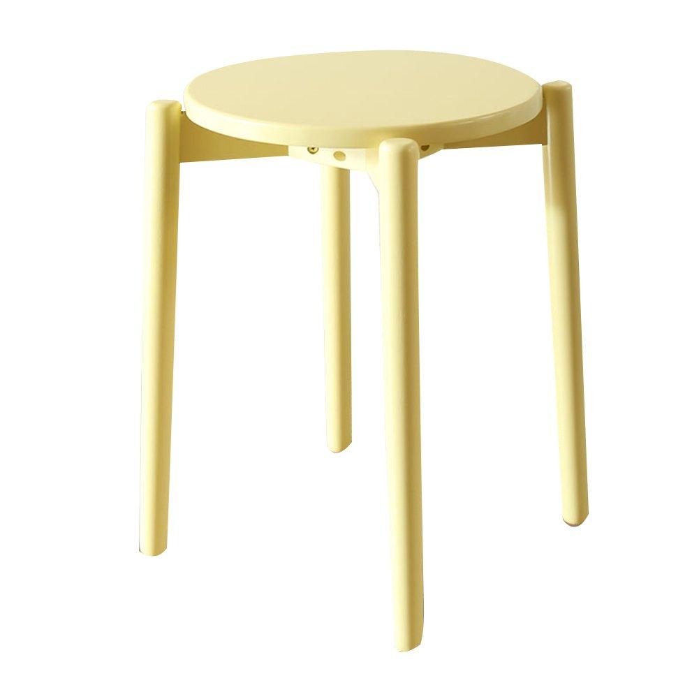 PENGFEI チェア スツール 多機能 ポータブル テーブルスツール キッチン ベンチ フラワースタンド シューズの交換 メイクスツール、 5色 脚立 踏み台ステップ チェア (色 : イエロー いえろ゜) B07DNZ1Z2D イエロー いえろ゜ イエロー いえろ゜