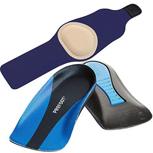 (Set) Gel Pad Arch Support L/XL & Plantar Fasciitis Heel Cup Insoles - Mens