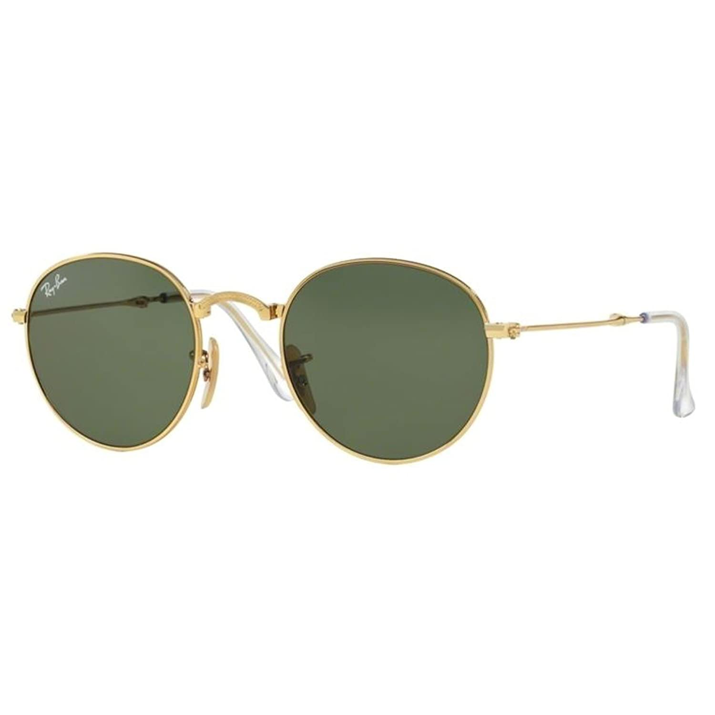 Ray Ban Plegable Metal gafas de sol redondas oro verde RB