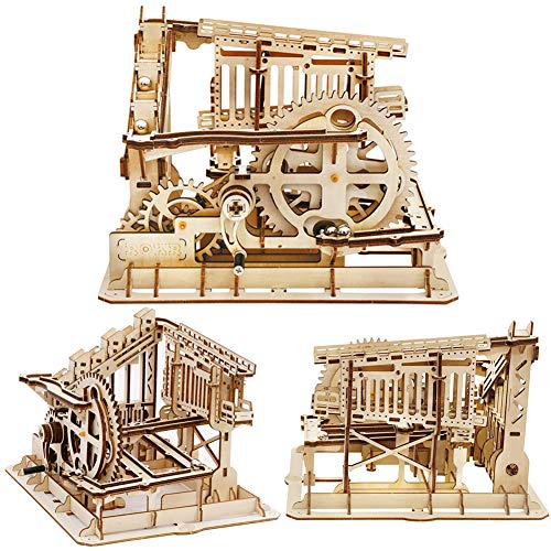 ROKR 3D Wooden Puzzle Marble Run Model Building Kits Mechanical Puzzle Toy  Gifts for Adults & Teens Marble Squad