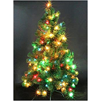 casa clausi christmas tree 4 feet pre lit multi colored lights artificial green madison