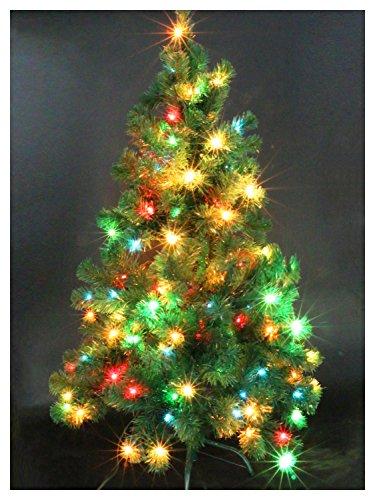 Pre Lit Trees - CASA CLAUSI Christmas Tree 4 Feet Pre-lit Multi-Colored Lights Artificial Green Madison Pine Tree