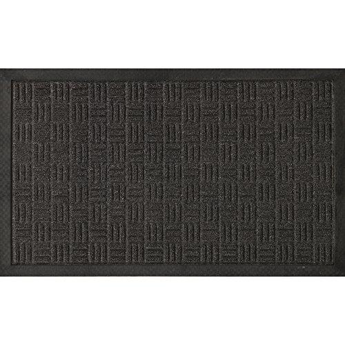 Ottomanson Loop Carpet Rubber Backed Door Entrance Rug Indoor/Outdoor Doormat, Shoe Scraper Entryway,Garage and Laundry Room Floor Mat, Weather-Resistant, 24