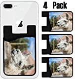 MSD Phone Card holder, sleeve/wallet for iPhone Samsung Android and all smartphones with removable microfiber screen cleaner Silicone card Caddy(4 Pack) IMAGE ID 36026472 Llama in Purmamarca near Cerr