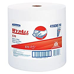 Wypall 41600 X70 Wipers, Jumbo Roll, Perf., 12 12 X 13 25, White, 870 Towels Per Roll