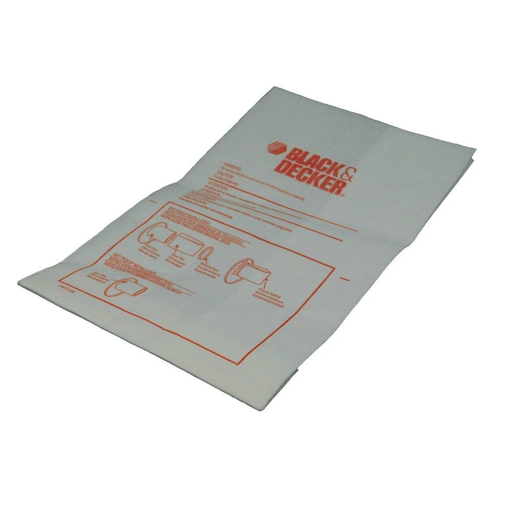 Black & Decker OEM 244111-00 replacement vacuum filter bag UV1000B UV200