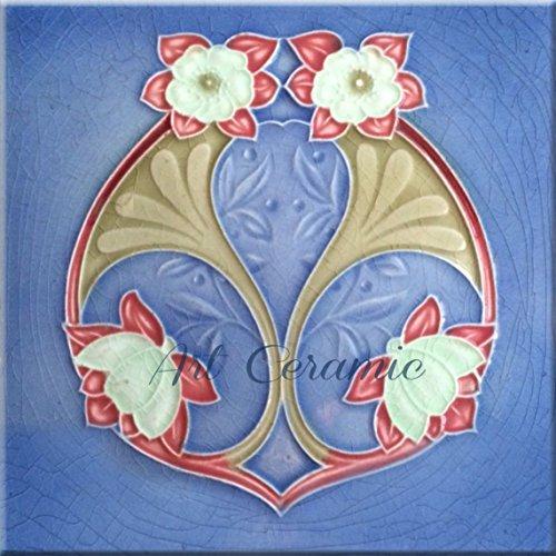 - Art Nouveau Ceramic Tile 6 Inches Reproducction #319