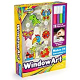 Window Paint Art Stickers Kit Kids – Children's Make Your Own Fun Suncatchers Set – [24] Sun Catchers,...