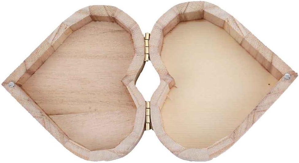 Morza En Forma de corazón Caja de Madera joyería de Maquillaje del Regalo de Boda Cajas de Almacenamiento de contenedores Anillo Pendientes turística Rangement Organizador de Madera