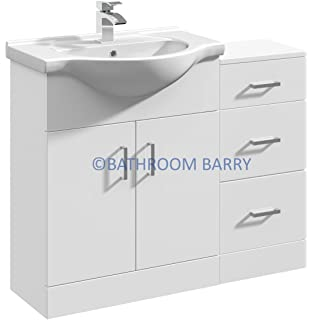 gloss gloss modular bathroom furniture collection. 1000mm modular high gloss white bathroom combination vanity basin sink cabinet u0026 three drawer cupboard furniture collection