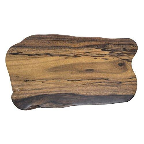 American Metalcraft Organic Shape Faux Acacia Wood Melamine Serving Board - 17 3/8