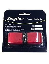 2 agarres de Zingther Premium acolchado de piel de agarre de repuesto (negro, rojo, 2 unidades)