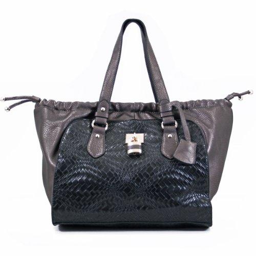 Hot Exotic Designer Celebrity Shoulder Tote Satchel Bag Handbag JX2138 (black)