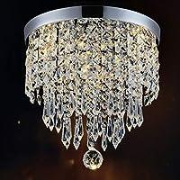 """Hile Lighting KU300074 Lámpara moderna Lámpara colgante de techo colgante de bola de cristal H9.84 """"X W8.66"""", 1 luz"""